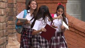 Σπουδαστές σε μια βιασύνη στοκ εικόνα