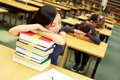 σπουδαστές ύπνου Στοκ εικόνα με δικαίωμα ελεύθερης χρήσης
