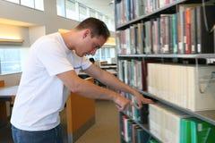 σπουδαστής βιβλιοθηκών στοκ εικόνες με δικαίωμα ελεύθερης χρήσης
