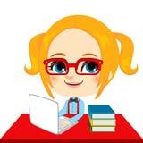 Σπουδαστής κοριτσιών Geek Στοκ Εικόνες