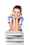 Σπουδαστής με τα βιβλία Στοκ εικόνα με δικαίωμα ελεύθερης χρήσης
