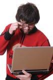 σπουδαστής lap-top υπολογι&sigm Στοκ Εικόνες