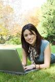 σπουδαστής lap-top στοκ φωτογραφίες