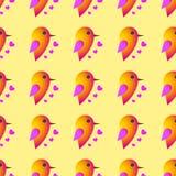 Σπουργίτι πουλιών ρωμανικός s ST ημέρας βαλεντίνος καρδιών seamless Στοκ φωτογραφία με δικαίωμα ελεύθερης χρήσης