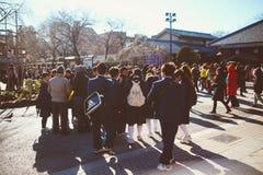 Σπουδαστές ναών Kannon Asakusa στοκ εικόνες με δικαίωμα ελεύθερης χρήσης