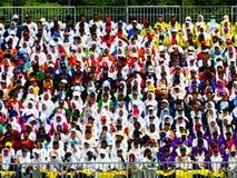 Σπουδαστές που γιορτάζουν τη Hari Merdeka Στοκ Εικόνες