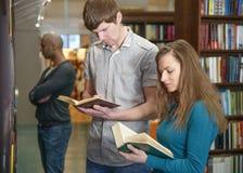 Σπουδαστές σε μια βιβλιοθήκη Στοκ φωτογραφία με δικαίωμα ελεύθερης χρήσης