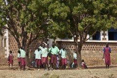 Σπουδαστές στο Νότιο Σουδάν Στοκ Φωτογραφία