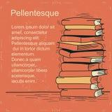 Σπουδαστής και βιβλία. Διανυσματικό άτομο που κουράζεται της ανάγνωσης και  Στοκ Φωτογραφίες