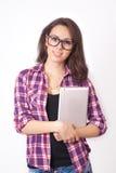 Σπουδαστής κοριτσιών με μια ταμπλέτα Στοκ Εικόνα
