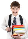 Σπουδαστής με βιβλία Στοκ Εικόνα