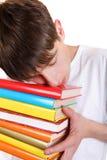 Σπουδαστής με βιβλία Στοκ φωτογραφίες με δικαίωμα ελεύθερης χρήσης