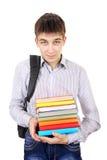 Σπουδαστής με βιβλία Στοκ φωτογραφία με δικαίωμα ελεύθερης χρήσης