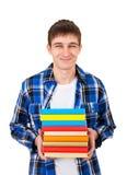 Σπουδαστής με βιβλία Στοκ εικόνα με δικαίωμα ελεύθερης χρήσης