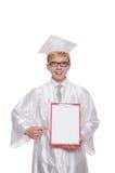 Σπουδαστής με το σημειωματάριο που απομονώνεται Στοκ Εικόνα