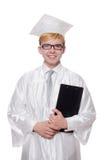 Σπουδαστής με το σημειωματάριο που απομονώνεται Στοκ Φωτογραφία