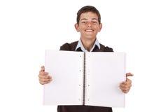 Σπουδαστής με το σημειωματάριο Στοκ εικόνες με δικαίωμα ελεύθερης χρήσης