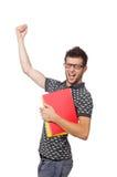 Σπουδαστής που απομονώνεται νέος Στοκ Φωτογραφία