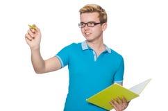 Σπουδαστής που απομονώνεται νέος Στοκ Εικόνες