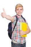 Σπουδαστής που απομονώνεται νέος Στοκ φωτογραφία με δικαίωμα ελεύθερης χρήσης