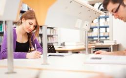 Σπουδαστής που γράφει στα copybooks τους Στοκ φωτογραφία με δικαίωμα ελεύθερης χρήσης