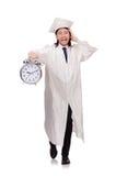 Σπουδαστής που χάνει τις προθεσμίες του με το ρολόι Στοκ Φωτογραφία