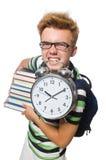 Σπουδαστής που χάνει τις προθεσμίες του που απομονώνονται Στοκ Εικόνες