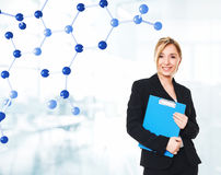 σπουδαστής χημείας Στοκ εικόνα με δικαίωμα ελεύθερης χρήσης