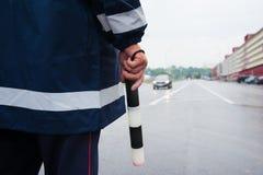 Σπόλα κυκλοφορίας στο δρόμο στοκ εικόνα με δικαίωμα ελεύθερης χρήσης