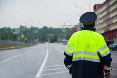 Σπόλα κυκλοφορίας στο δρόμο στοκ φωτογραφία με δικαίωμα ελεύθερης χρήσης