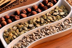 σπόροι καρπών δημητριακών Στοκ Φωτογραφία