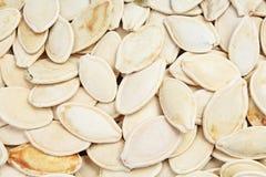 Σπόροι κολοκύθας ως υπόβαθρο Φωτογραφία τροφίμων σχεδίων σύστασης σπόρου κολοκύθας Στοκ Φωτογραφίες