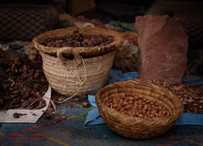 Σπόροι του μαροκινού argan δέντρου σε μια αγορά Στοκ Εικόνα