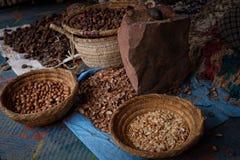 Σπόροι του μαροκινού argan δέντρου σε μια αγορά Στοκ φωτογραφία με δικαίωμα ελεύθερης χρήσης