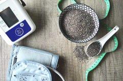 Σπόροι Chia για την υγεία στοκ φωτογραφίες