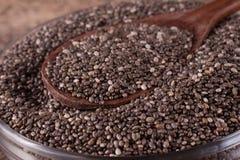 Σπόροι Chia σε ένα κουτάλι Στοκ Εικόνα