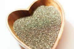 Σπόροι Chia Φυσικό προϊόν Να καθαρίσει το σώμα Υγιής οργανισμός Στοκ Εικόνα