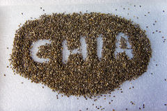 Σπόροι Chia στοκ εικόνα