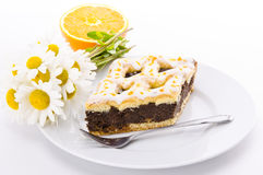 σπόρος παπαρουνών κέικ Στοκ Εικόνες