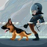 Σπόλα με το σκυλί απεικόνιση αποθεμάτων