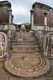 Σρι Λάνκα, βήματα του ναού στοκ φωτογραφίες
