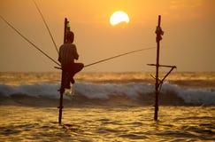 Σρι Λάνκα, νότια παράλια - 6 Ιανουαρίου  2011: παραδοσιακή Σρι Λάνκα Στοκ Εικόνες