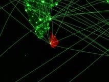Σρι Λάνκα στον πράσινο χάρτη στοκ φωτογραφία με δικαίωμα ελεύθερης χρήσης