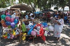 Στάβλοι στο φεστιβάλ οδών Plaza de Λα Independencia το Μέριντα ο EN Domingo Μέριντα την Κυριακή Στοκ εικόνες με δικαίωμα ελεύθερης χρήσης