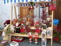 Στάβλος αγοράς στην αγορά του χωριού Chrismas Στοκ Φωτογραφίες
