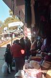 Στάβλος οδών καταστηματαρχών Τοποθετημένος σε Darjeeling και Ghum, μια διάσημη περιοχή αγορών για τη μόδα στοκ εικόνες