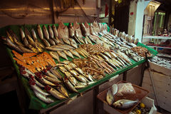 Στάβλος αγοράς των ψαριών και των θαλασσινών Στοκ φωτογραφίες με δικαίωμα ελεύθερης χρήσης