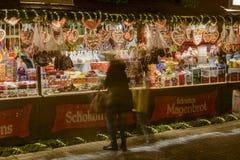 Στάβλος καραμελών στην αγορά Χριστουγέννων, Στουτγάρδη Στοκ Εικόνα