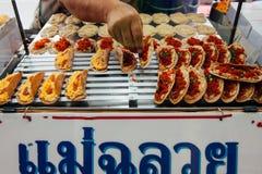 Στάβλος τροφίμων οδών στη Μπανγκόκ, Ταϊλάνδη Στοκ Φωτογραφίες