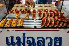 Στάβλος τροφίμων οδών στη Μπανγκόκ, Ταϊλάνδη Στοκ εικόνες με δικαίωμα ελεύθερης χρήσης